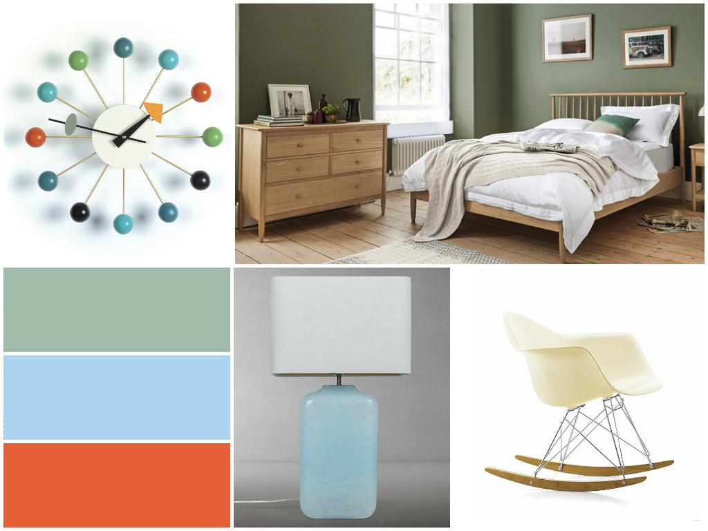 Ercol Bedroom Mid-Century Modern Style in our New Design Scheme